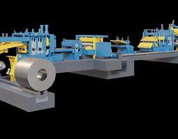Metal cutting machine 3D model