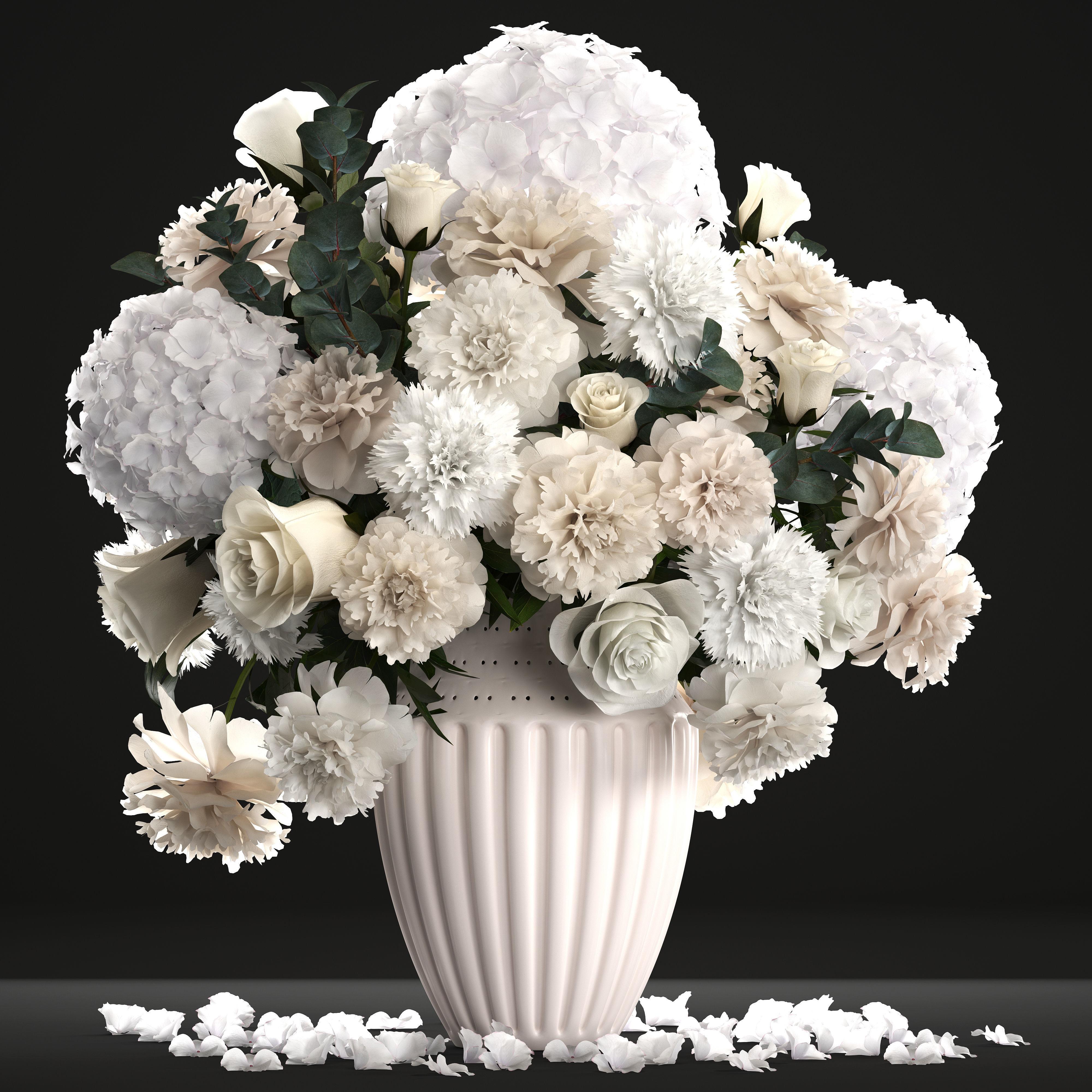 Bouquet of wthite flowers