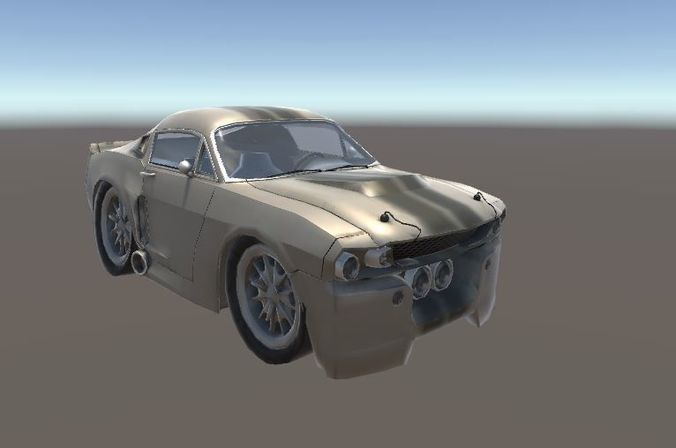 Ford Mustang Shelby Gt  Eleanor Coupe D Model Fbx Unitypackage Prefab