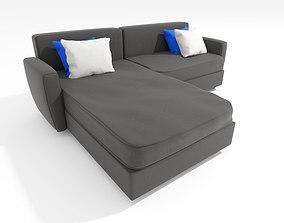 L Shaped stylish Sofa 02 3D model