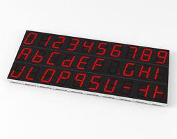 3D model 7-segment LED display