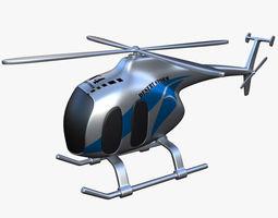 Toy Helicopter V4 3D Model