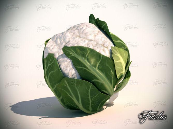 cauliflower 3d model low-poly max obj mtl 3ds fbx c4d 1