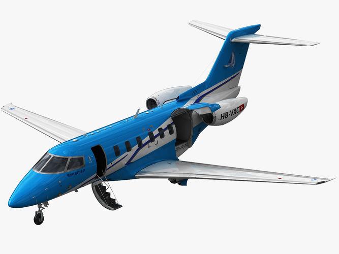 pilatus pc-24 3d model max obj mtl 3ds fbx c4d lwo lw lws 1