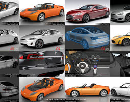 3D model Tesla Complete Car Collection