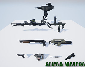 Aliens Weapon Pack for Unreal 4 3D asset