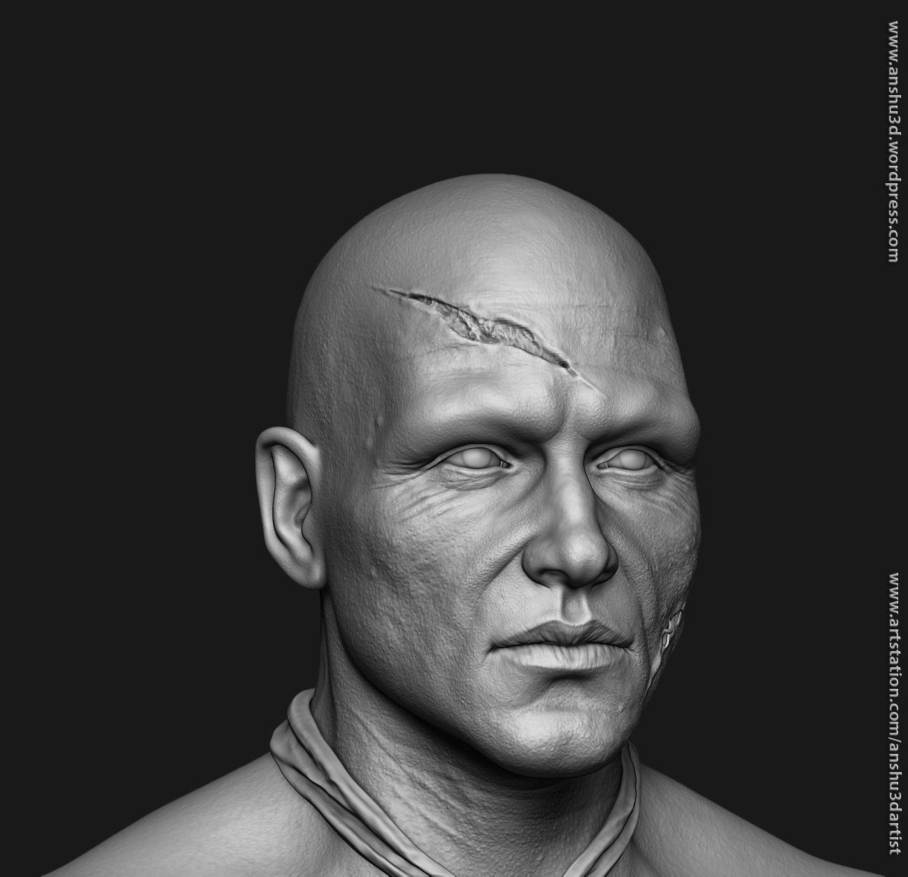 3d Human Anatomy Head And Hands Only Cgtrader