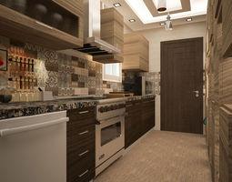 Modern Kitchen ready 3D model