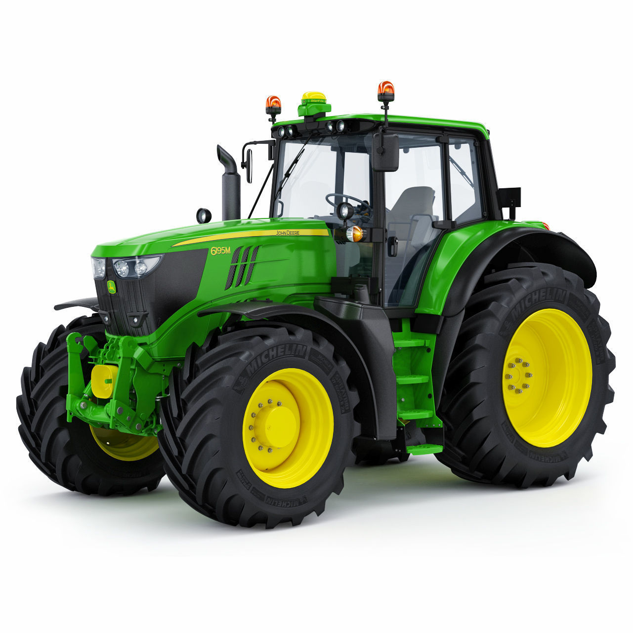 Farm Tractor John Deere 6195M