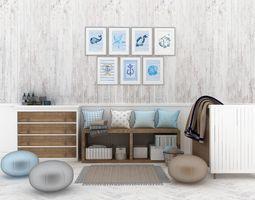 3D Baby boy room