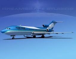 rigged boeing 727-100 sahsa 3d