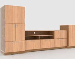 tv stand 66 low-poly 3d asset