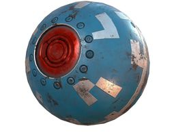 Sci-fi Sphere PBR 3D asset