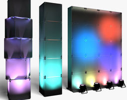 3D model stage Stage Decor 29 Modular Wall Column