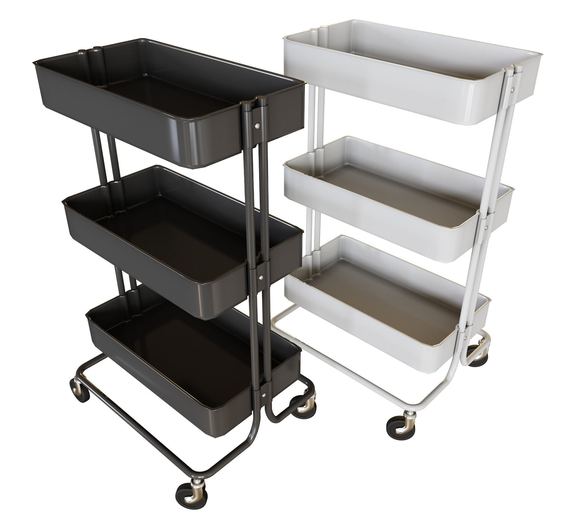 3d Ikea Cart On Wheels For Kitchen Cgtrader