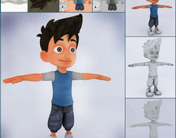 3D CARTOON LOW POLYGON CHARACTER game-ready