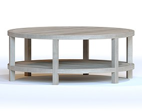 3D model CIRCULAR WOODEN COFFEE TABLE
