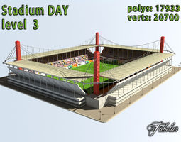 Stadium Level 3 Day 3D Model