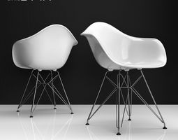 Eames DAR plastic side chair 3D model