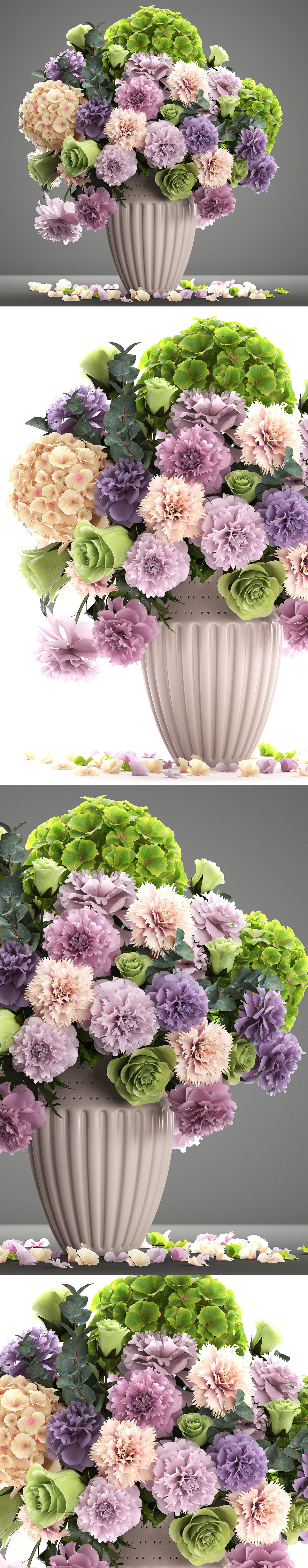 Bouquet Of Spring Flowers 3d Model Max Obj Mtl Fbx