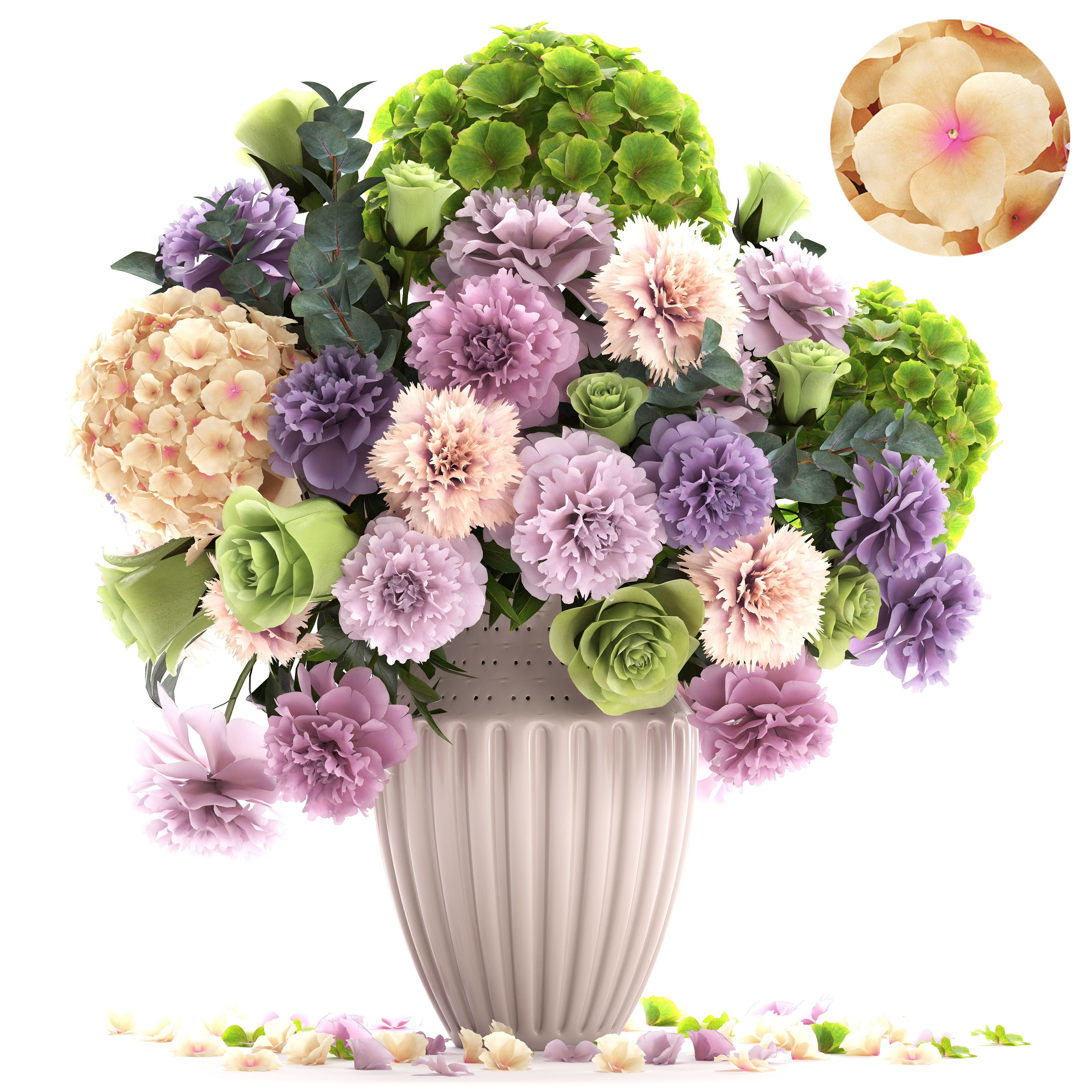 Bouquet of spring flowers 3D model MAX OBJ FBX MTL