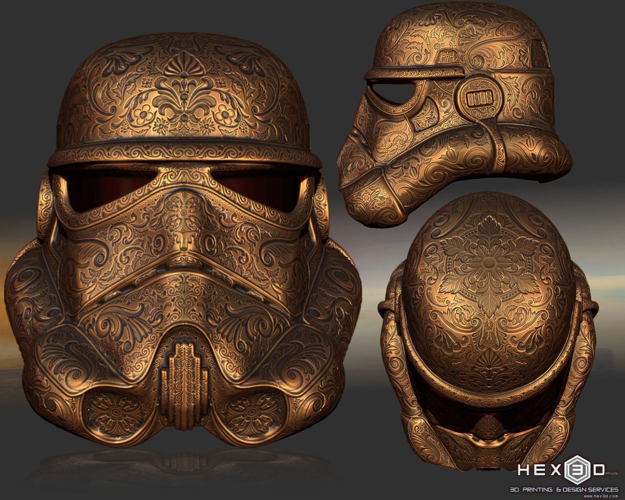 Deluxe Carved Trooper Helmet