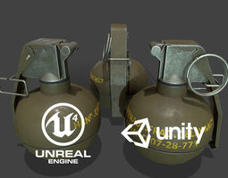 M67 Grenade Lowpoly 3D asset realtime