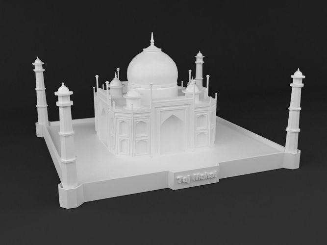 Taj Mahal 3d Image: Taj Mahal 3D Print Ready Model 3D Model 3D Printable STL