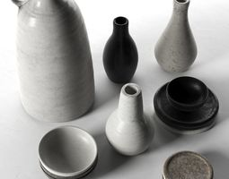 3D model Vases Bowls and Plates old