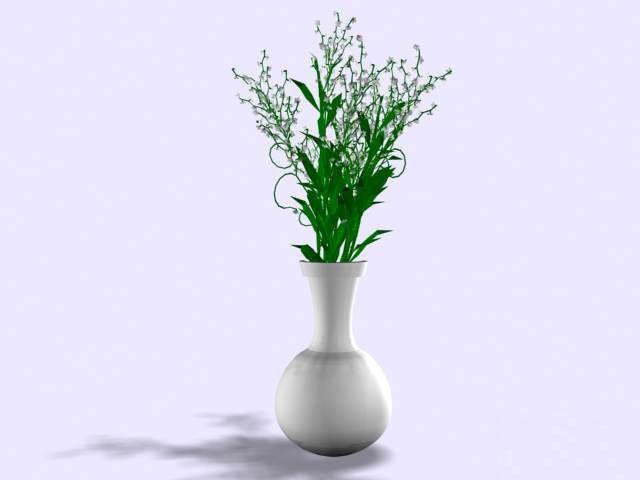3d Model Flower And Vase Cgtrader