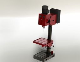 vertical drill machine 3d