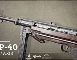 World War II Axis - First Person Asset MP40 3D model