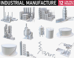 3D model VR / AR ready Industrial Manufacture Collection