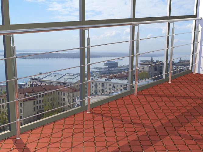 balcony railing design free 3d model