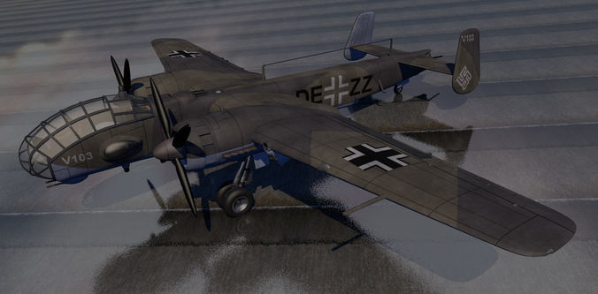 German WW2 Bomber Collection 01 | 3D model