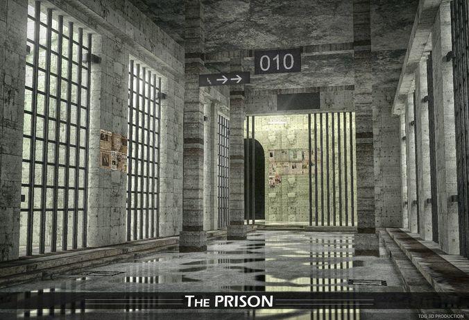 prison  3d model max obj mtl 3ds fbx dxf stl 1