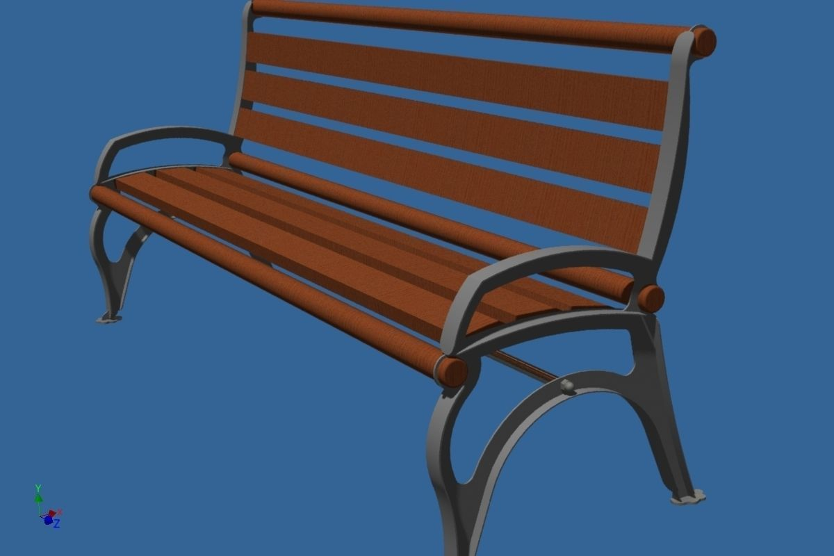 Park bench free 3d model for Outdoor furniture 3d warehouse