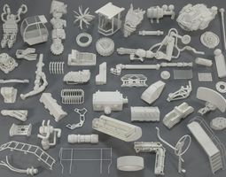 3D Kit bash - 54 pieces - collection-16