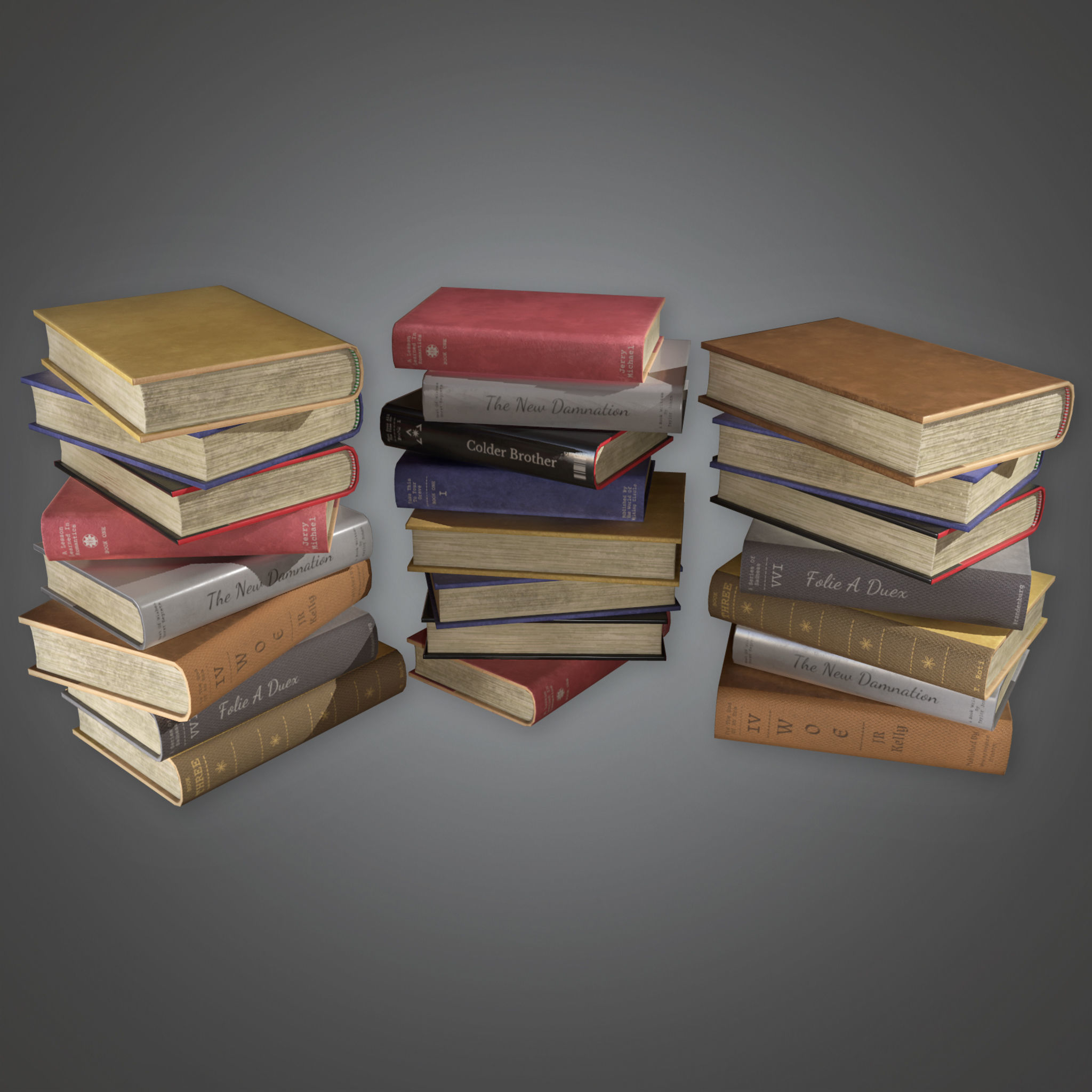 HVM - Books Stack - PBR Game Ready