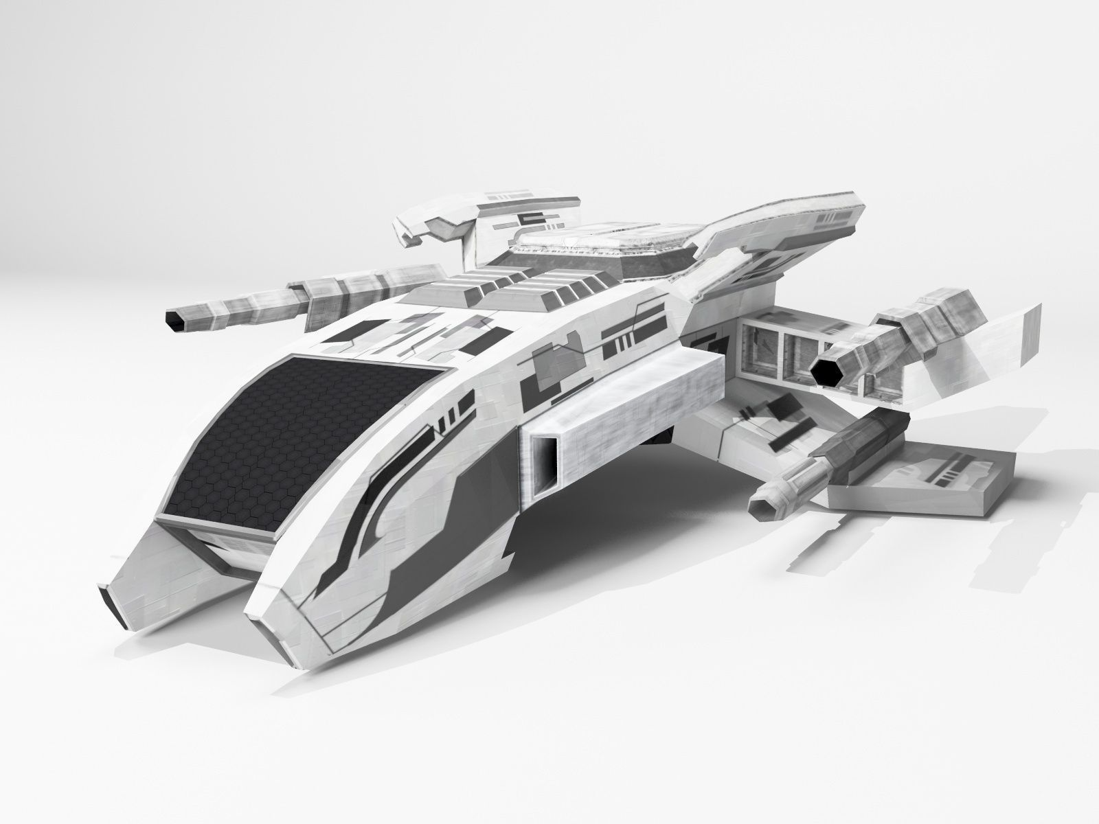 Space Ship Free 3d Model Game Ready Max Obj