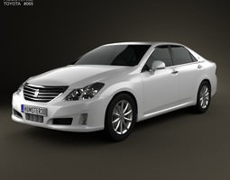 3D model Toyota Crown Royal Saloon S200 2010