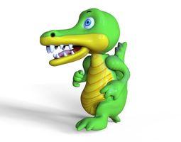 Crocodile Cartoon 3D asset