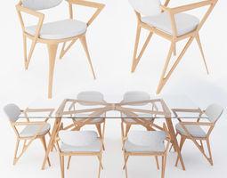 kitchen modern dining set 3D model