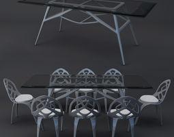 modern diningset 3D model