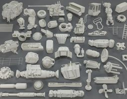 Kit bash - 54 pieces - collection-17 3D