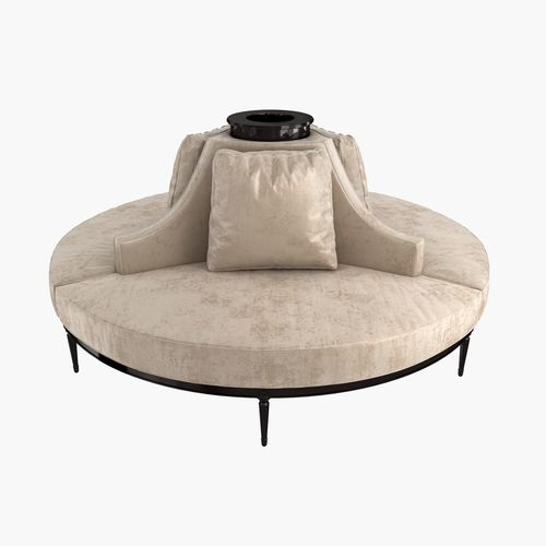 Custom Hand Made Center Round Settee Banquette Sofa Model Max Obj Mtl S Fbx Stl