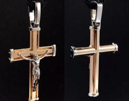 Christian gold cross 3D printable model