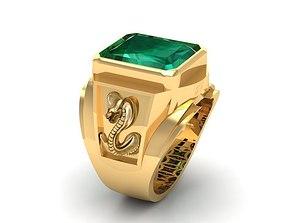 777 Zodiac Snake Ring 3D print model man