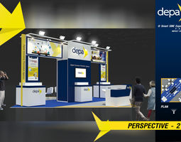 3D model Booth DEPA design size 6 X 6m 36sqm
