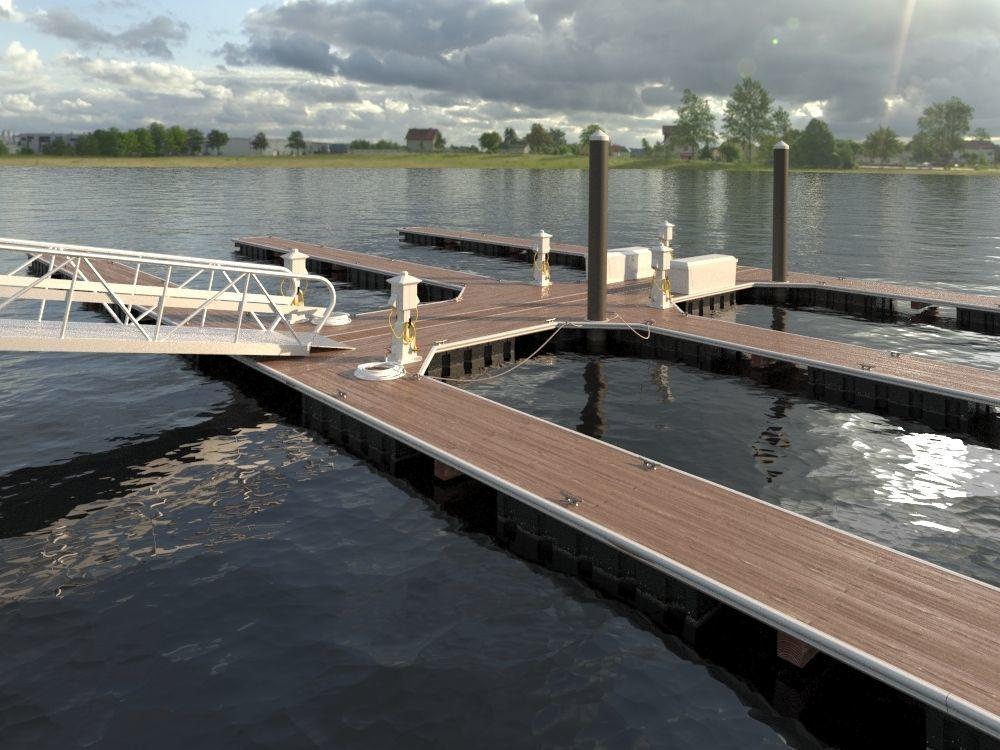Marina - Boat Slips - Floating Dock - Deluxe